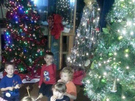 Christmas and Kids at the Museum