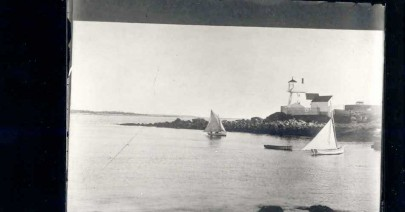 Fort Point Lighthouse Vintage Photo