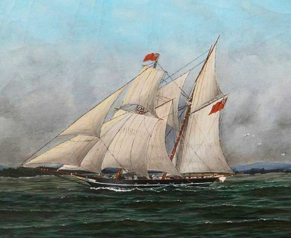 Painting of the Liverpool Packet by Thomas Hayhurst