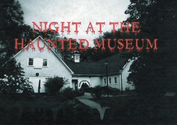 Lady in black ... haunted night at Queens County Museum