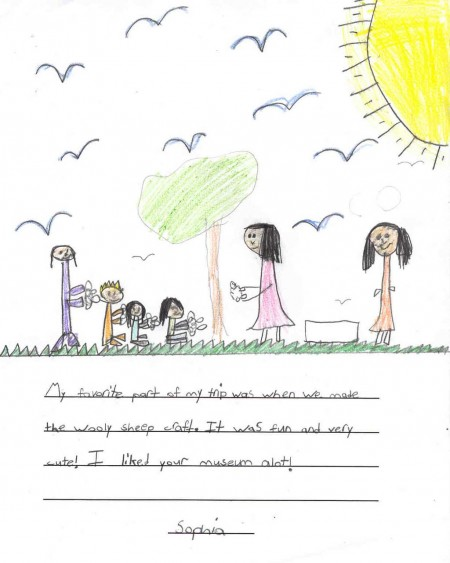 School Program: Sophia's drawing and favourite part about Perkins House