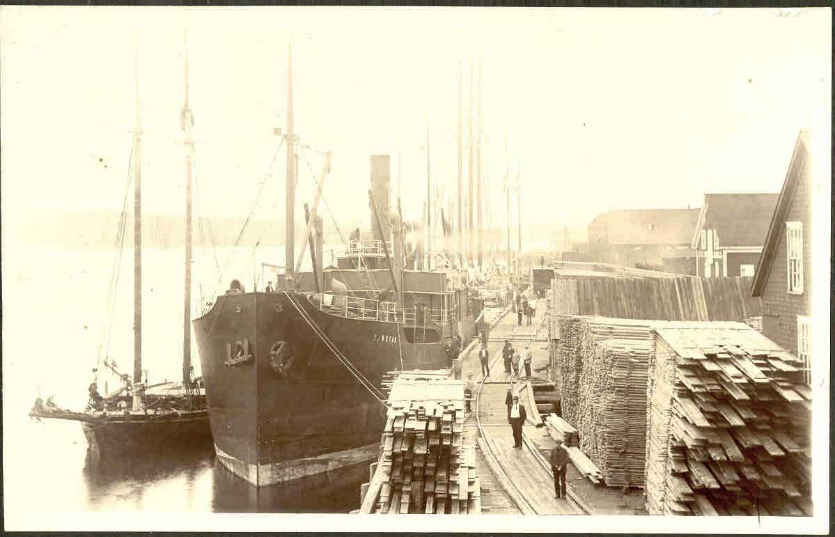 Liverpool Town Wharf - Vintage Photo