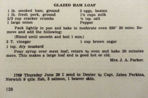 Perkins Recipe Glazed Ham Loaf
