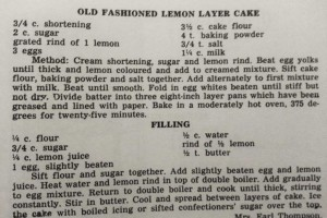 Perkins' Hearth Recipe: Lemon Layer Cake