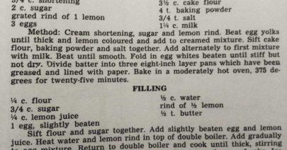 Perkins' Hearth Recipe: Lemon Layer Cake