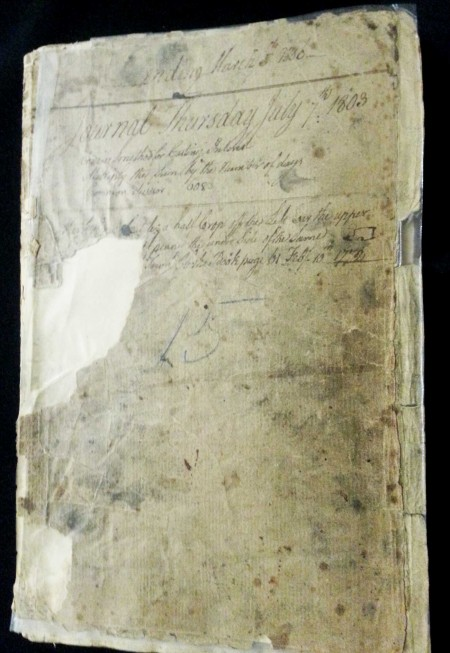 Simeon Perkins Diary Ledger July7, 1803 to March 1806