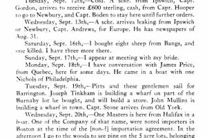 Simeon Perkins Diary Page 1775