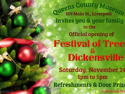 Official opening of the Festival of trees and Dickensville, Nov 24, 2018 at the Queens County Museum