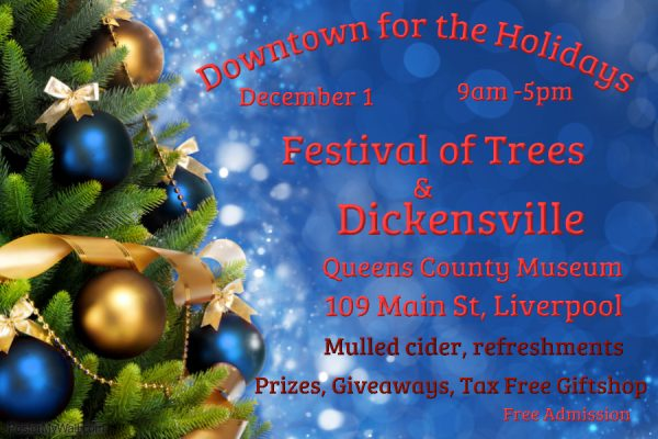 Join Us Downtown for the Holidays, Dec 1, 9am-5pm Queens County Museum