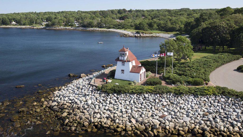 For Point Lighthouse Park, Liverpool, Nova Scotia - Aerial